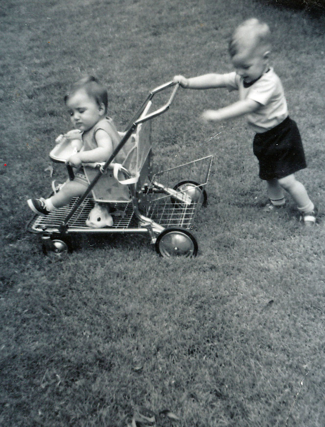 Andy pushing Sally 1962