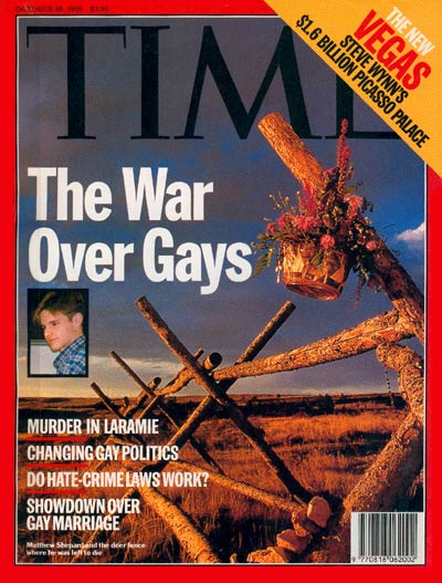 Time Cover Matthew Shepard