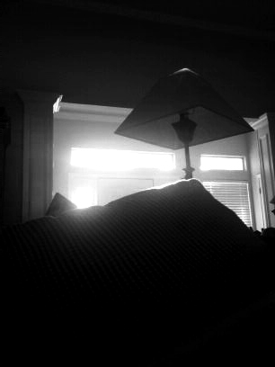 B&W living room lamp
